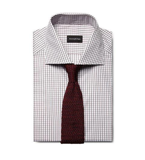 ErmenegildoZegna-checkered-shirt