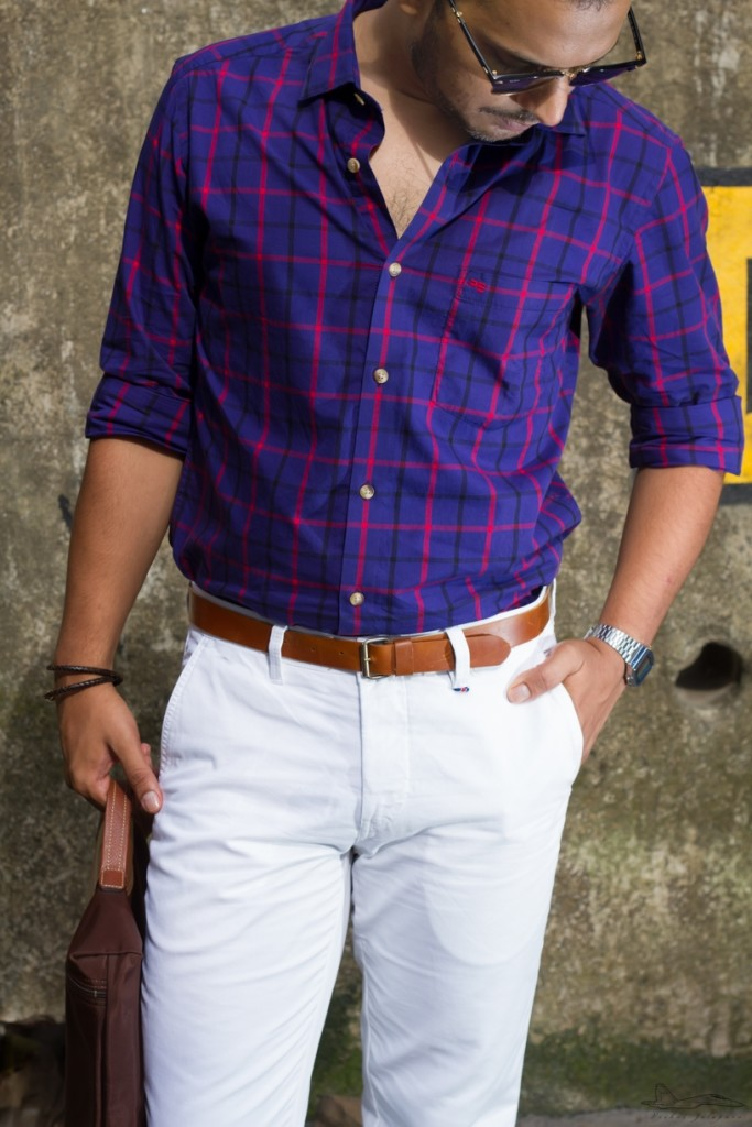 Add a tan belt to the equation, my Lonchamp Pliage for men and I've got an elegant, street style look in a jiffy.