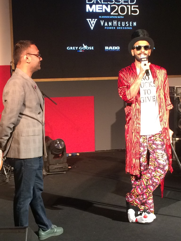 Che Kurien, Editor of GQ India, in conversation with Ranveer, talking about the Best Dressed Men issue of GQ India.