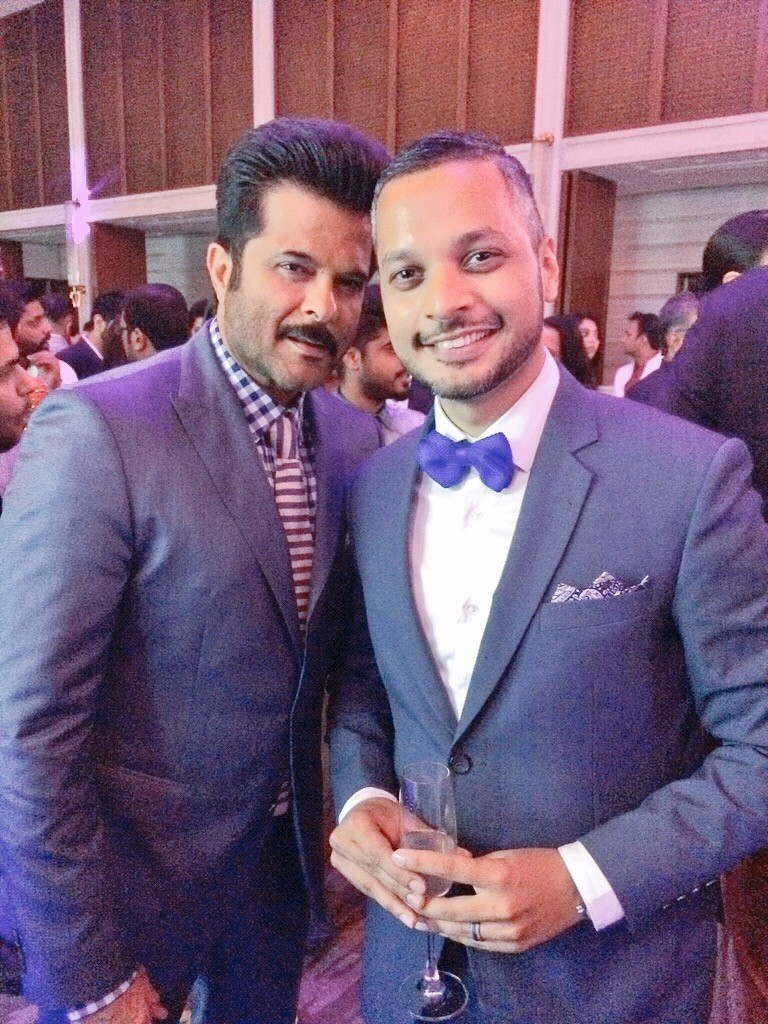 I managed to chat up Anil Kapoor for a few minutes. He told me that he loves wearing single-breasted suits and always accessorises well.