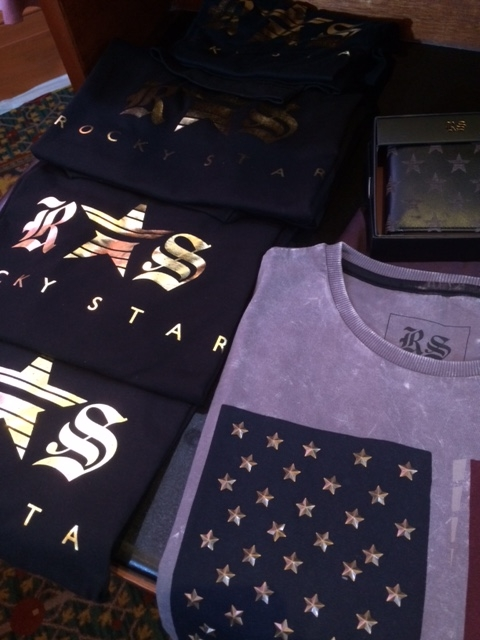 The star seems to be a leitmotif of Rocky S's collection, and understandably so, it's called Rocky Star. They find their way onto teeshirts in the form of gold prints and embossed metallic elements.