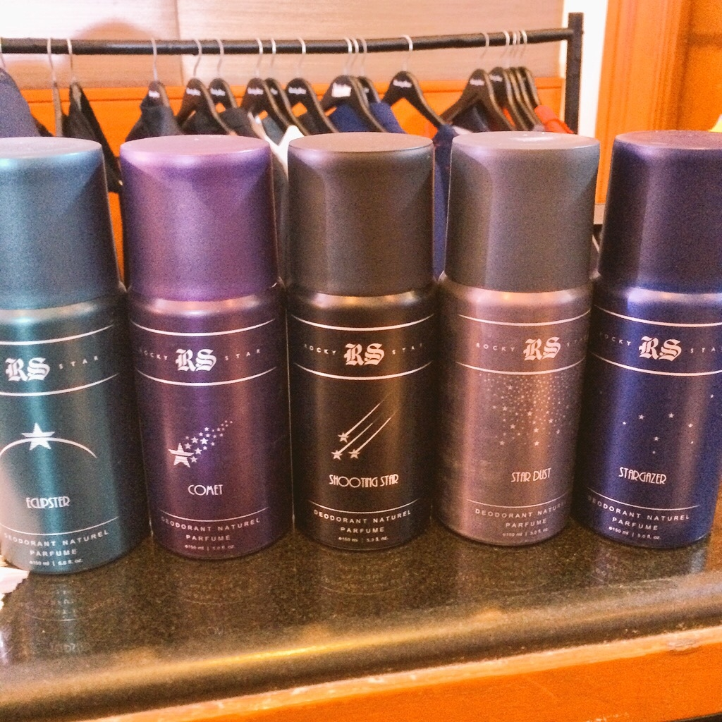 The collection also features a range of Rocky Star deodorants, with interesting names like