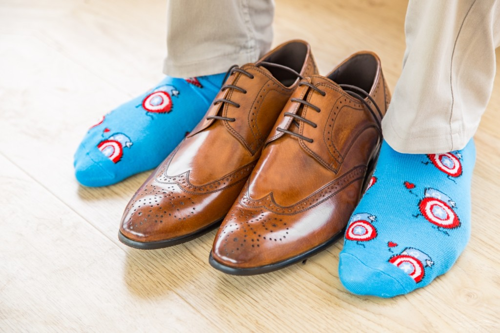 I always make it a point to wear the most outrageous socks with my tan brogues. It could add a quirky twist to the most sober of outfits.
