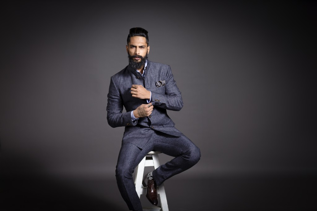 Raghavendra Rathore Blue Suit