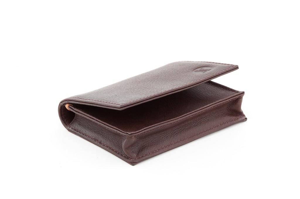 Viari Wall Street Card Case Chestnut